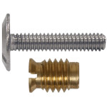 Stainless Combo Sidewalk Bolt & Slotted Brass Wood Inserts Combo Pack