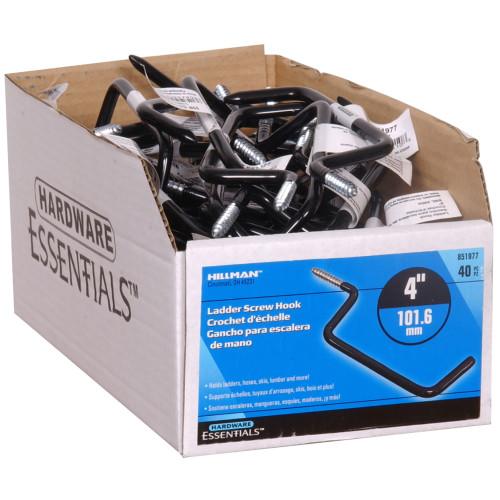 Hardware Essentials Ladder Hook Black Vinyl 4