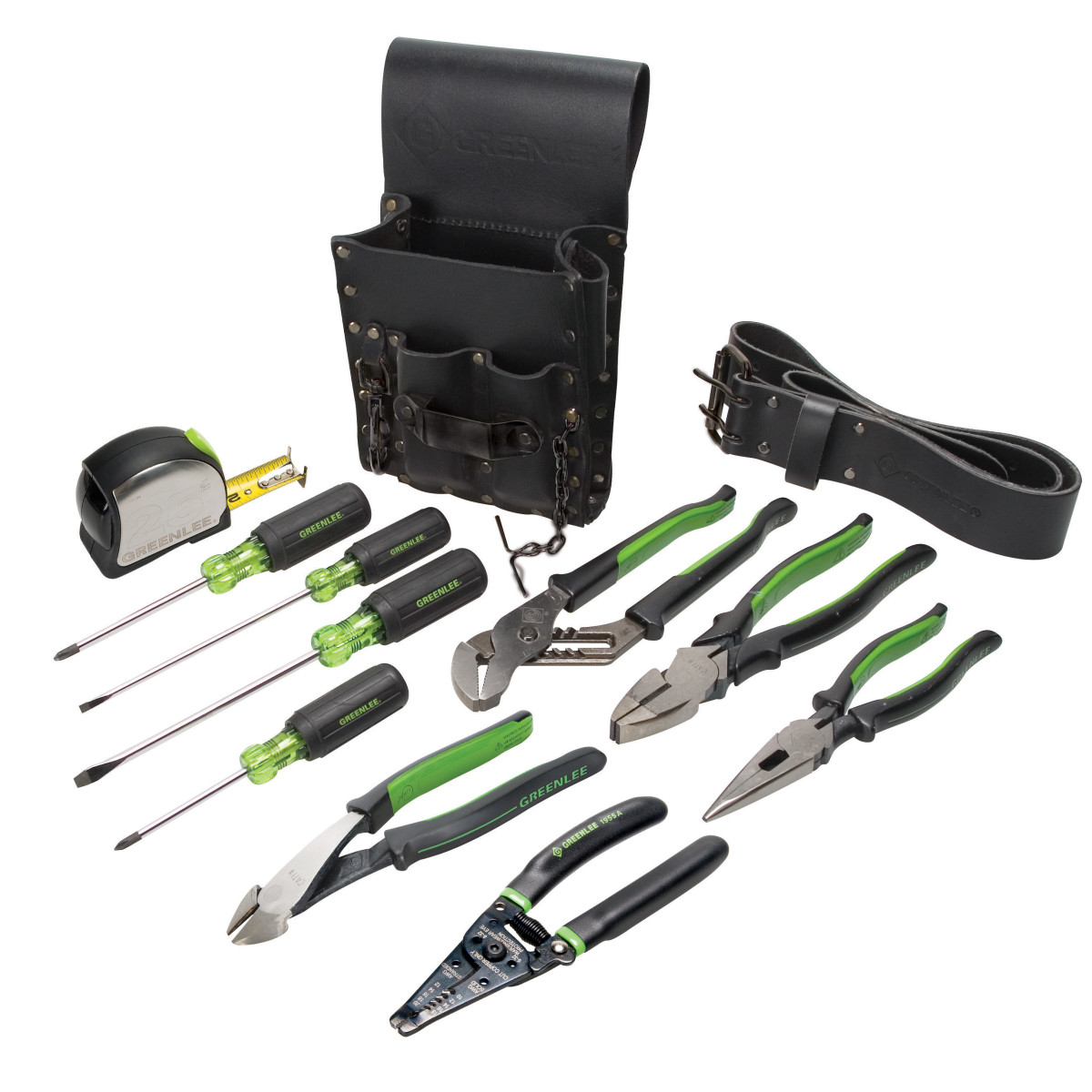 Greenlee 0159-13 Electricians Kit 12Pc