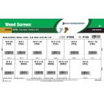 Flat-Head Slotted Brass & Steel Wood Screws Assortment (#10)