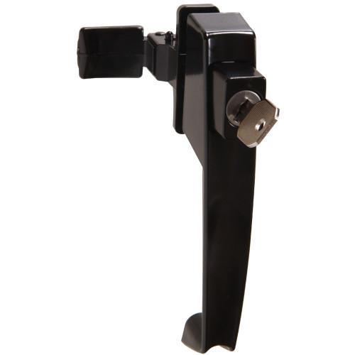 Hardware Essentials Black Keyed Pushbutton Latch 1-1/4in