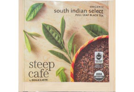 steep Café Organic South Indian Select Tea - Box of 50 pyramid tea bags