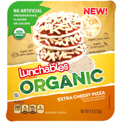 Oscar Mayer Lunchables Organic Cheese Pizza 4 oz Tray