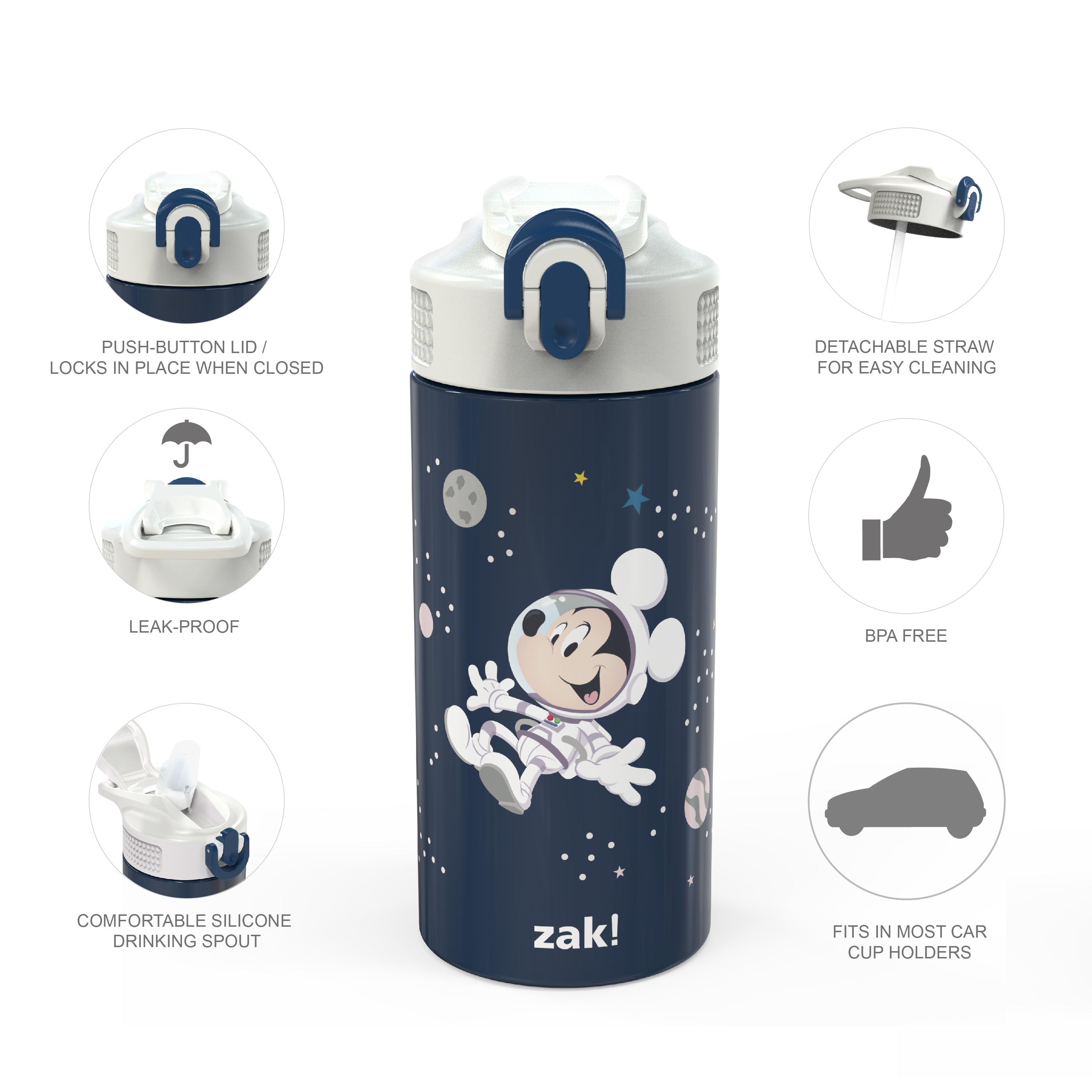 Disney 14 ounce Stainless Steel Vacuum Insulated Water Bottle, Mickey Mouse slideshow image 6