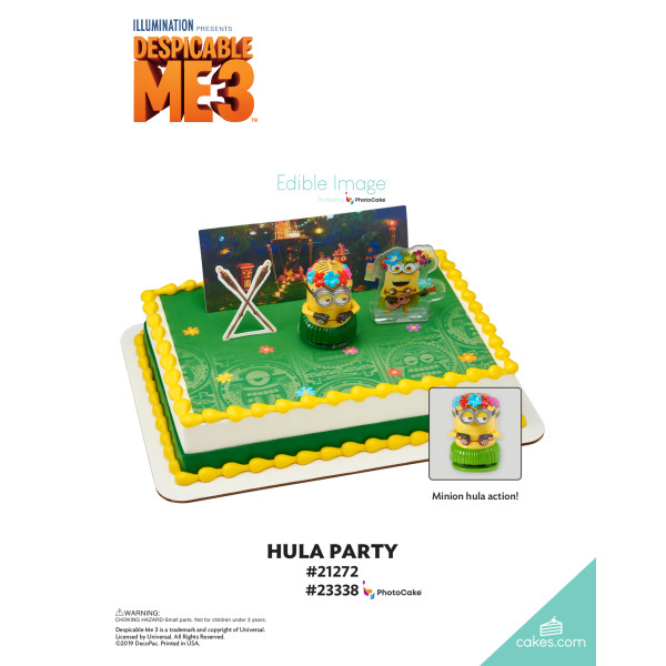 Despicable Me 3™ Hula Party DecoSet® The Magic of Cakes® Page