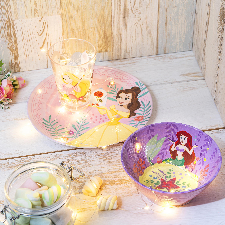 Disney Kids 9-inch Plate and 6-inch Bowl Set, Princess Belle, 2-piece set slideshow image 2