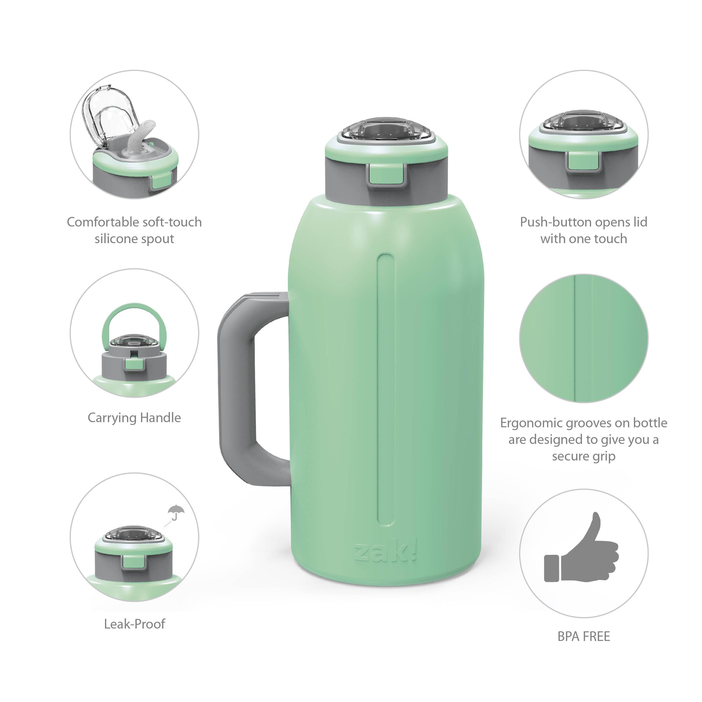 Genesis 64 ounce Stainless Steel Water Bottles, Neo Mint slideshow image 2