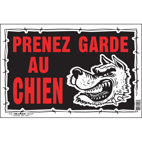 French Beware of Dog Sign (8