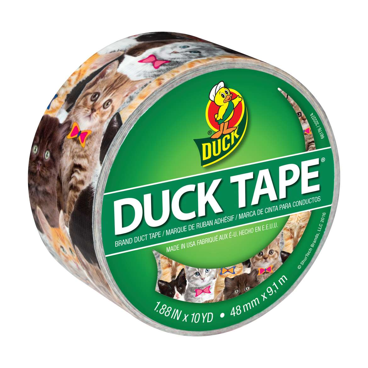 Printed Duck Tape® Brand Duct Tape - Kitty Kitty, 1.88 in. x 10 yd. Image