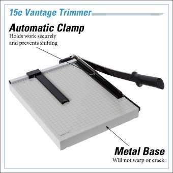 Dahle Vantage® 15e Trimmer InfoGraphic - Metal Base