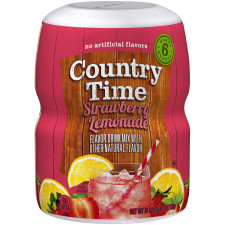 Country Time Strawberry Lemonade Drink Mix 18 oz Jar