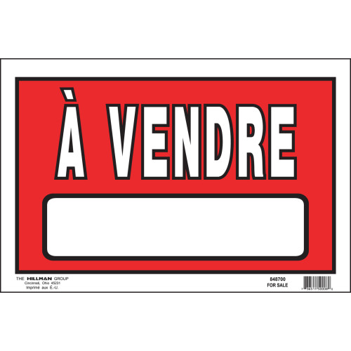 French For Sale Sign, 8