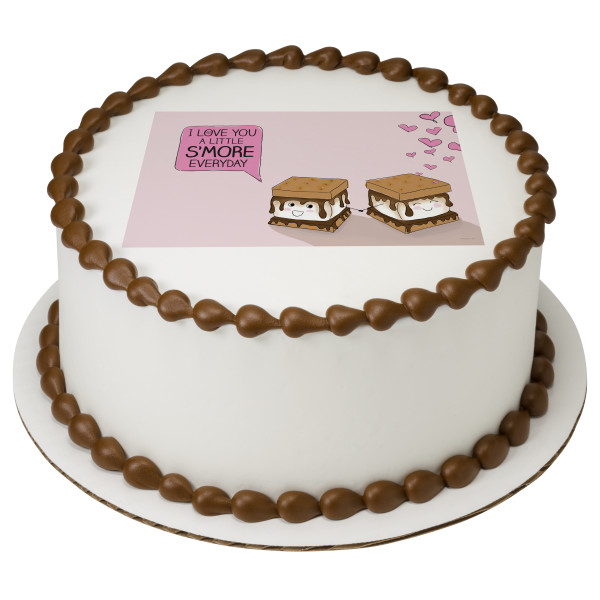 A Little S'more Every Day PhotoCake® Edible Image®