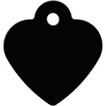 Black Small Heart Quick-Tag
