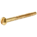 Brass Round Head Slotted Wood Screws