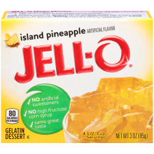 Jell-O Island Pineapple Gelatin Mix 3 oz Box