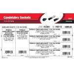 Candelabra Sockets Assortment (75 W-125V Rating)