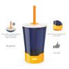Zak Hydration 16 ounce Mighty Mug Tumbler with Straw, Navy slideshow image 5