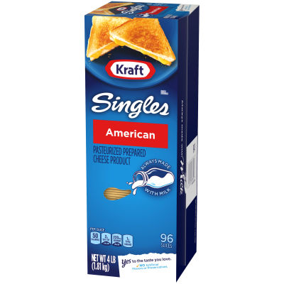 Kraft Singles American Cheese Slices, 4lb (96 slices)