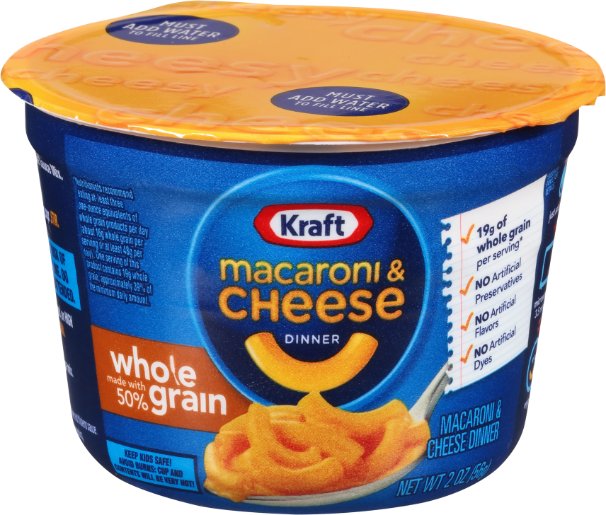 Kraft Whole Grain Original Flavor Macaroni & Cheese Dinner 2.0 oz Microcup image