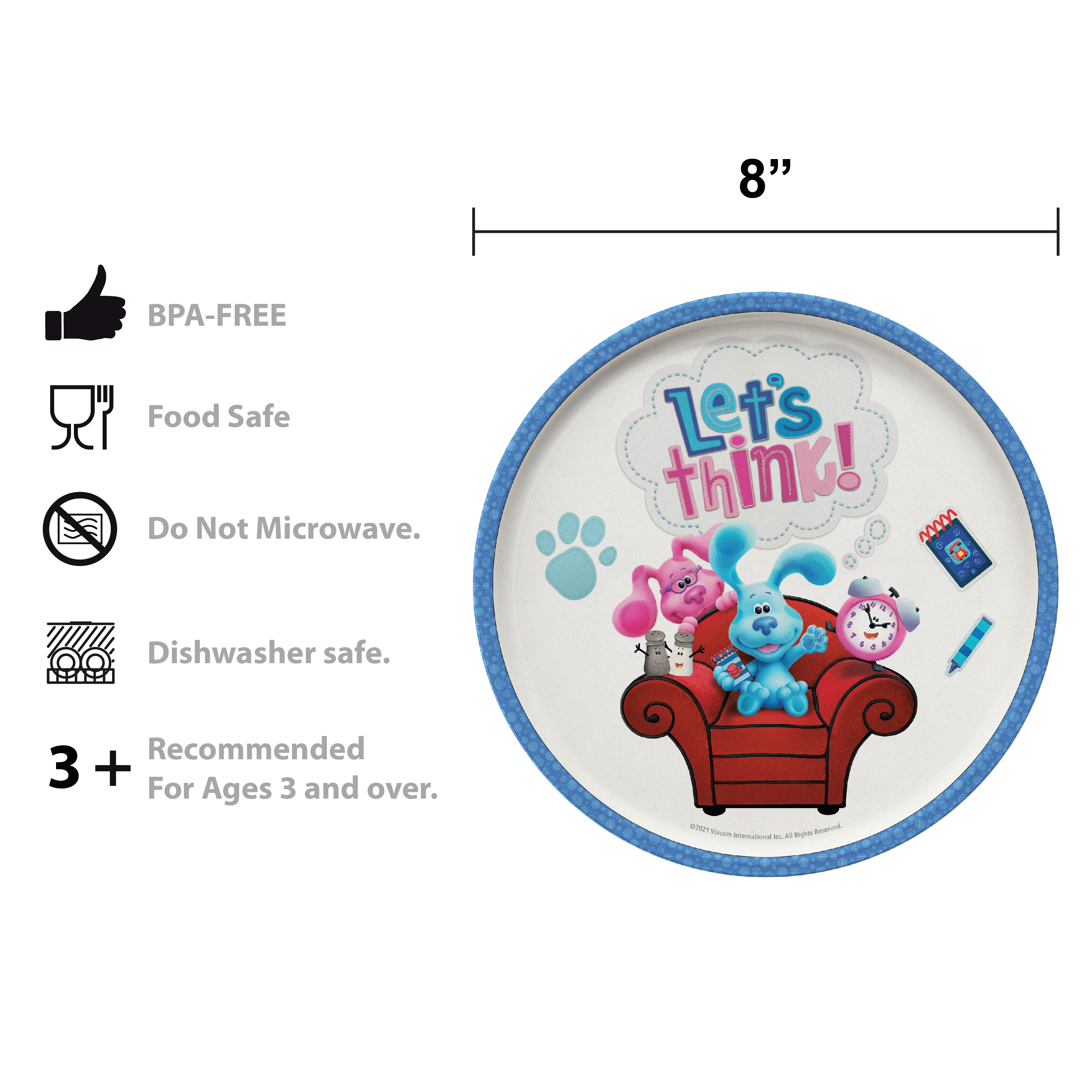 Blues Clues and You Kids Dinner Set, Blue and Friends, 5-piece set slideshow image 2