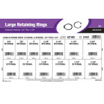 "Large External & Internal Retaining Rings Assortment (3/4"" thru 1-3/4"" Diameter)"