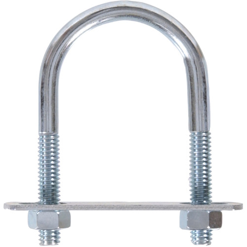 Hardware Essentials Zinc U-bolt Round Saddle 1/4
