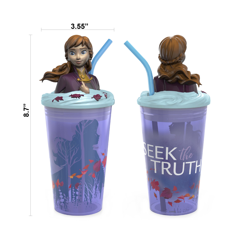 Disney Frozen 2 Movie 15 ounce Kid's Tumbler, Anna and Elsa, 2-piece set slideshow image 6