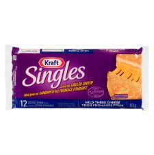 Kraft Singles Mild Three Cheese Slices
