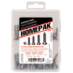 HOMEPAK Oval Head Phillips Sheet Metal Screws Assortment