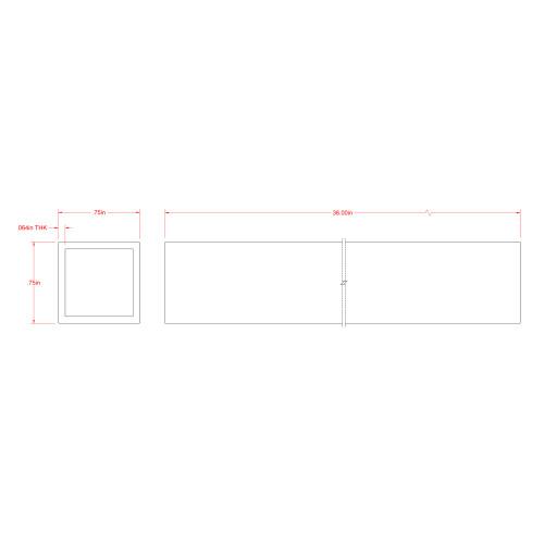 SteelWorks Aluminum Square Tube (3/4