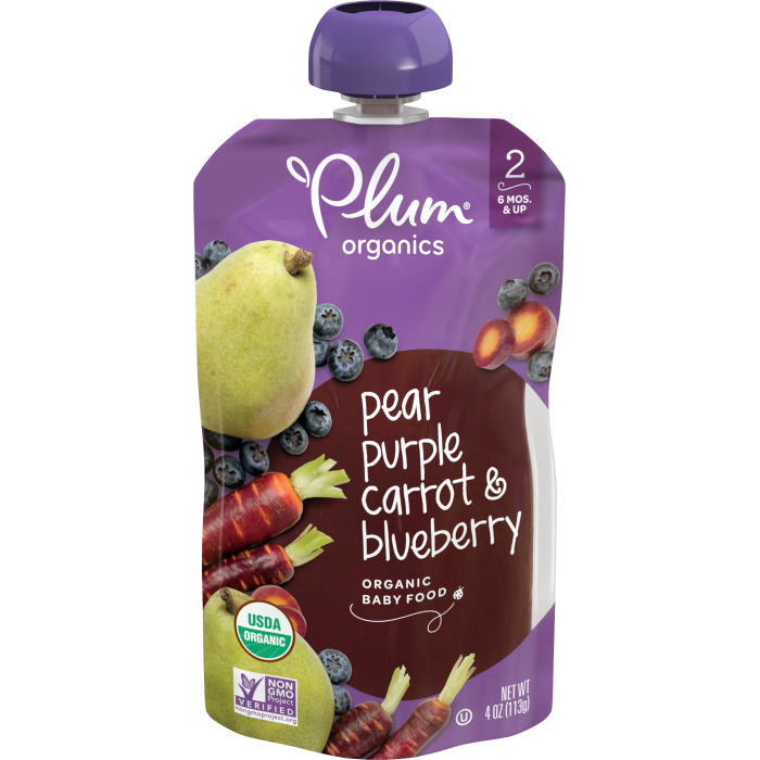 Pear, Purple Carrot & Blueberry Baby Food