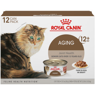 Aging 12+ Thin Slices in Gravy Canned Cat Food