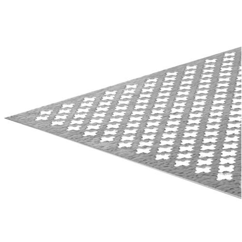 SteelWorks Aluminum Decorative Sheet Silver Cloverleaf (0.020