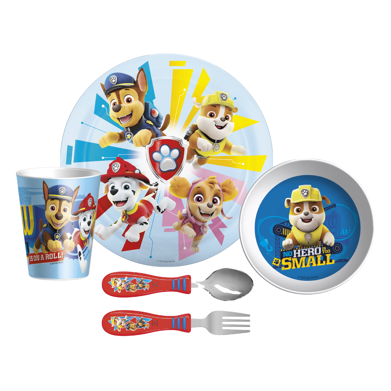 Paw Patrol Dinnerware Set, Skye, Marshall and Friends, 5-piece set slideshow image 1