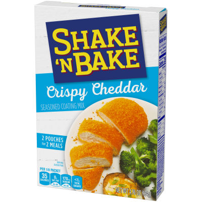 Kraft Shake 'n Bake Crispy Cheddar Seasoned Coating Mix, 4.75 oz Box
