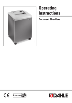 Dahle Professional Shredders User Guide