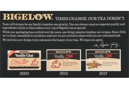 Front of Vanilla Chai tea box