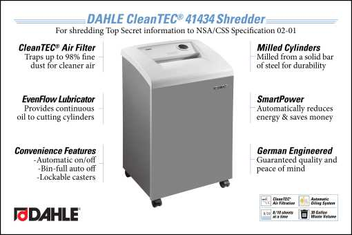 DAHLE CleanTEC® 41334 High Security Office Shredder InfoGraphic