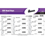 "Gib Head Keys Assortment (1/4"" thru 1/2"")"