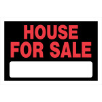"House For Sale Red and Black Sign, 8"" x 12"""