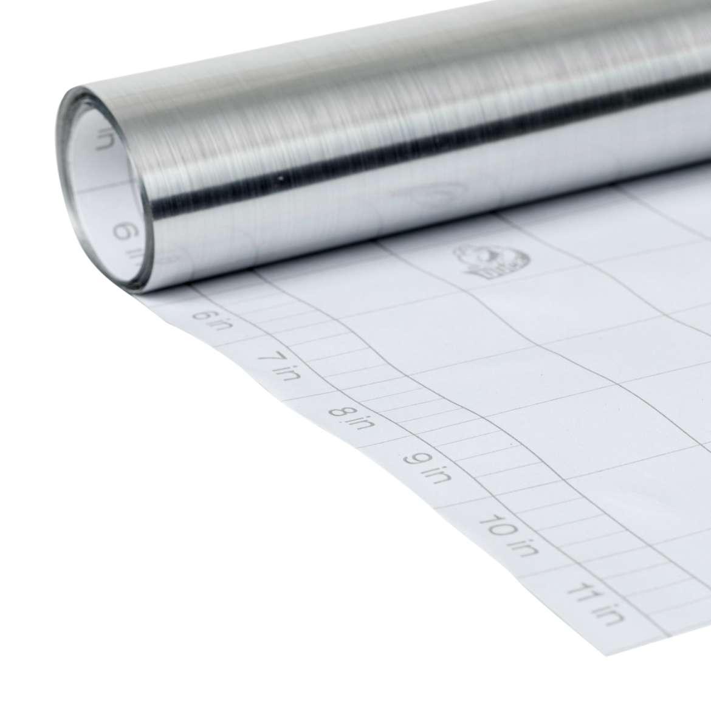 Deco Adhesive Laminate Shelf Liner Silver Metal 12 Quot X10