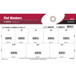 "Aluminum Flat Washers Assortment (#4 thru 1/2"")"