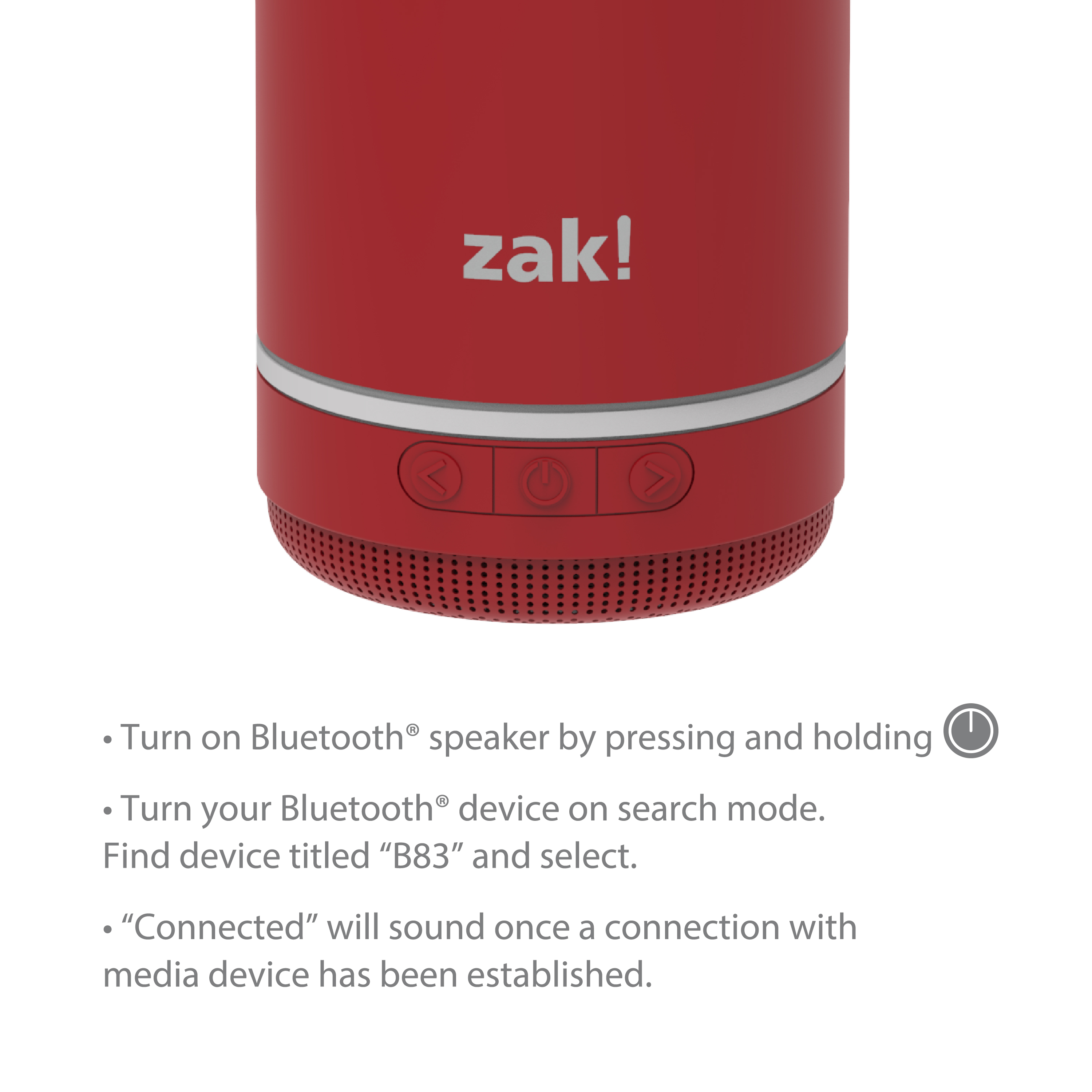 Zak Play 17.5 ounce Stainless Steel Tumbler with Bluetooth Speaker, Red slideshow image 9