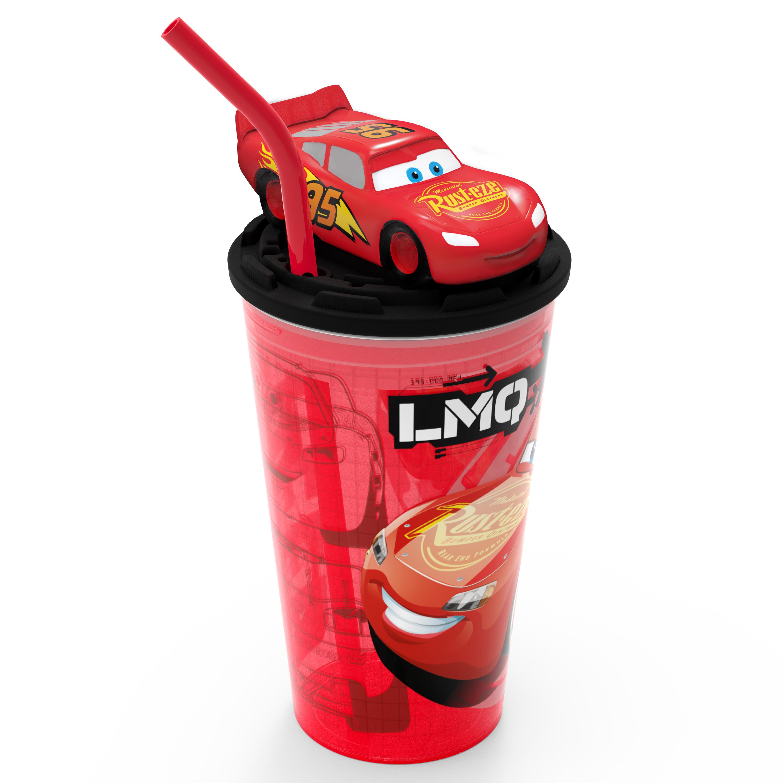 Disney and Pixar Cars 3 Movie 15 ounce Kid's Tumbler, Lightning McQueen slideshow image 1