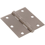 Hardware Essentials Square Corner Satin Nickel Door Hinges