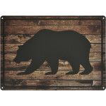"Aluminum Black Bear Sign, 10"" x 14"""