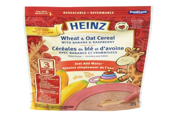 Heinz Baby Wheat Oat Cereal with Milk - My Food and Family