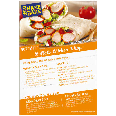 Kraft Shake 'n Bake Crispy Buffalo Seasoned Coating Mix 4.75 oz Box