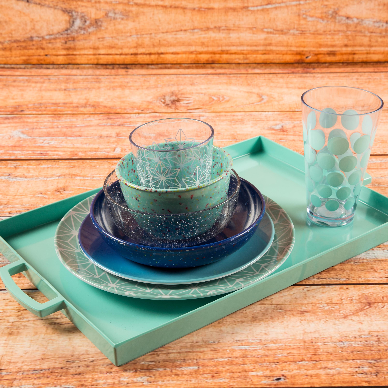 Confetti 24 ounce Soup Bowl, Mint, 6-piece set slideshow image 3